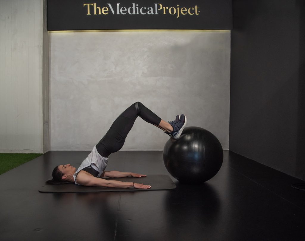 Άσκηση με μπάλα pilates
